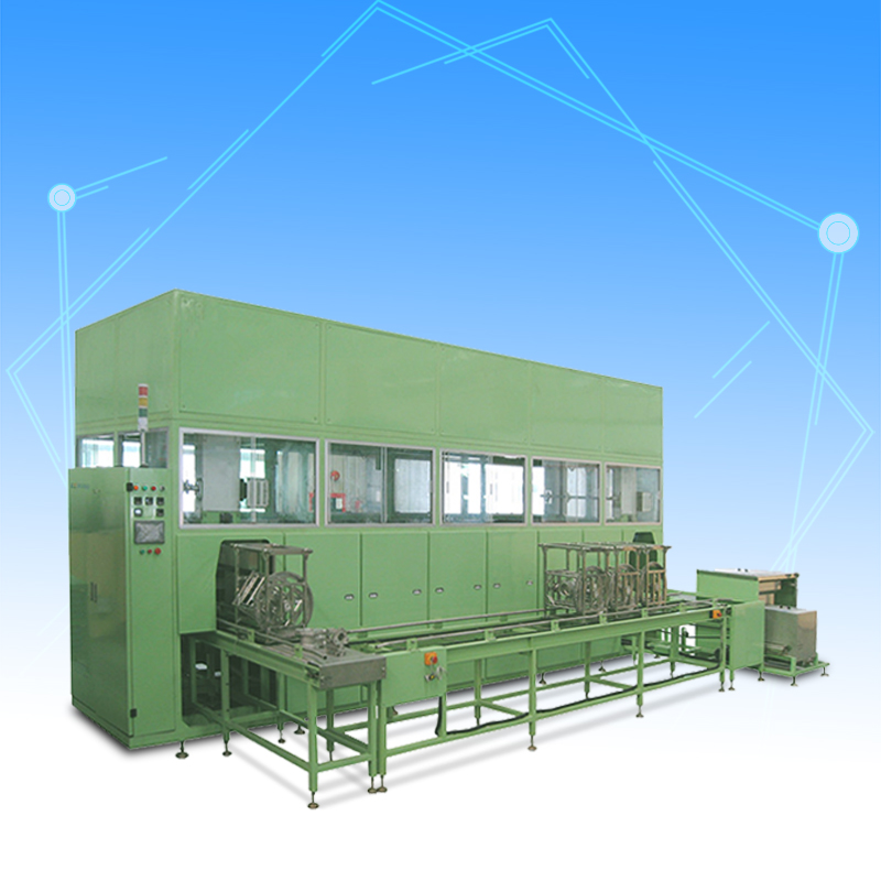 Automatic auto parts ultrasonic cleaning and drying machine