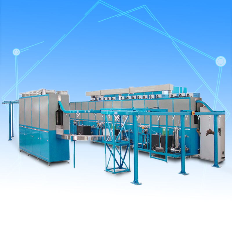 Automatic suspension chain ultrasonic cleaning dryer